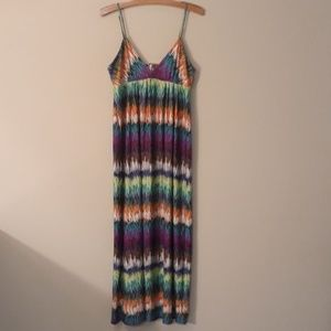 eci Colorful Maxi Dress Worn Once Size L